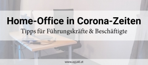 Home-Office in Corona-Zeiten
